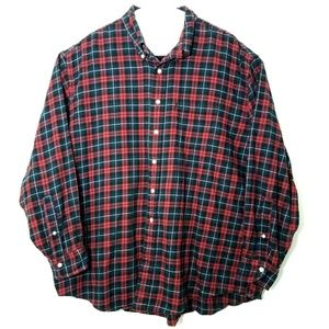Brooks Brothers Mens Red Blue Cotton Flannel Shirt